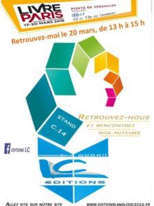 salon du livre de Paris mars 2016