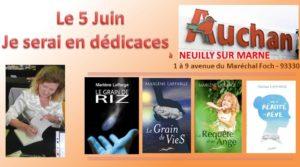 Dédicace à Auchan Neuilly sur Marne 5 Juin 2021